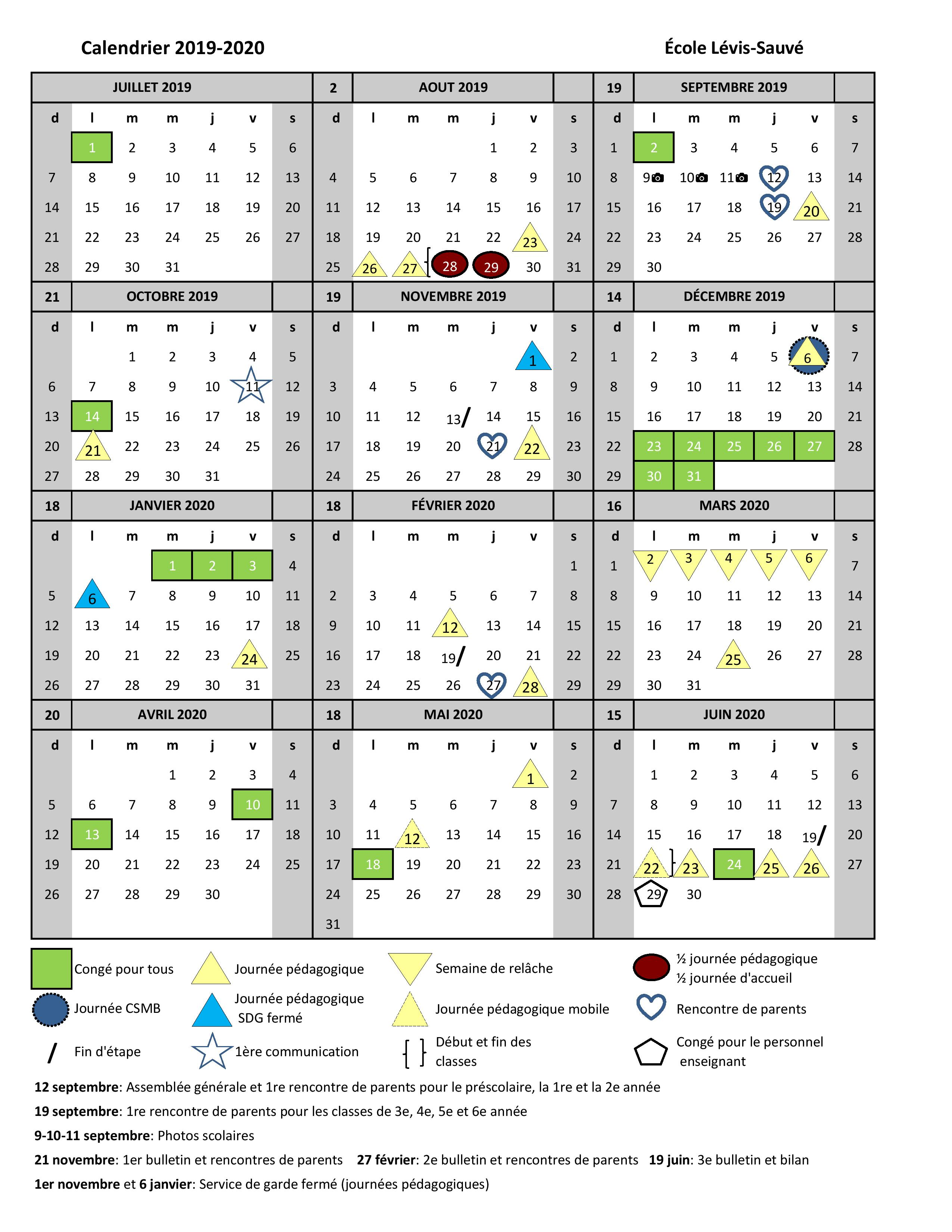 Page Calendrier.Couverture 4 Calendrier 2019 2020 Page 001